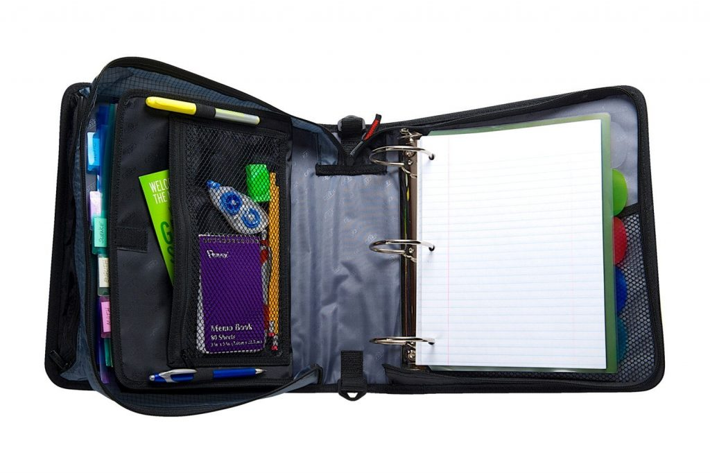 Inside the Case-it Zip Binder
