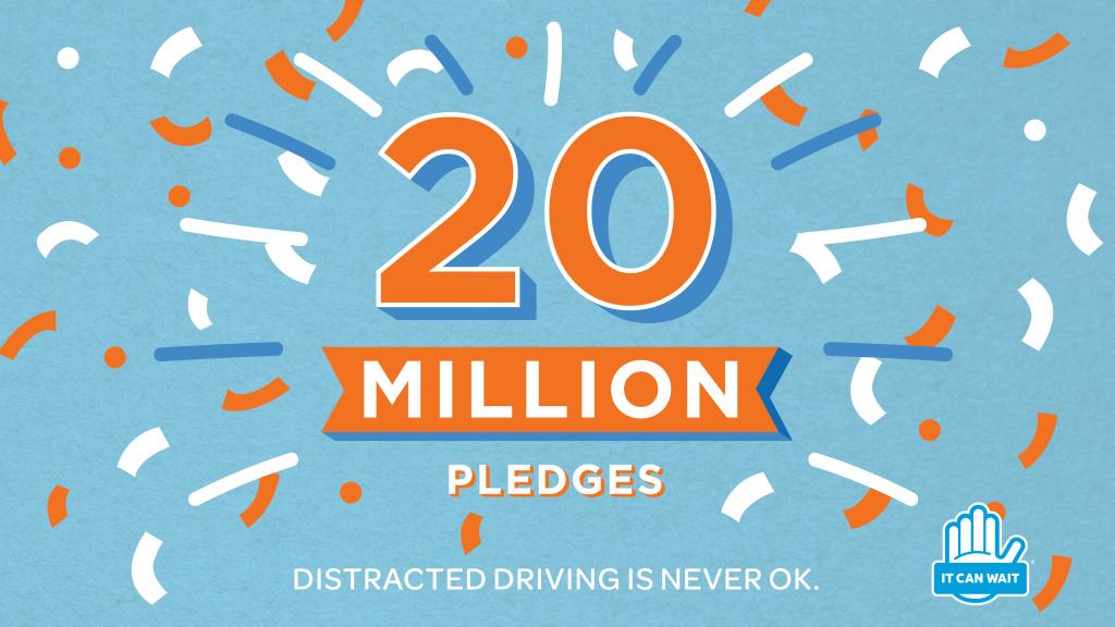 20 Million Pledges for #ItCanWait