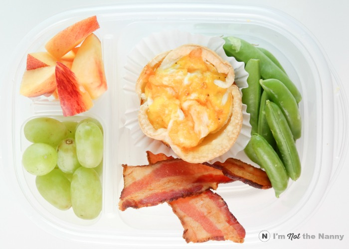 Mini Cheese Quiche Lunch Box
