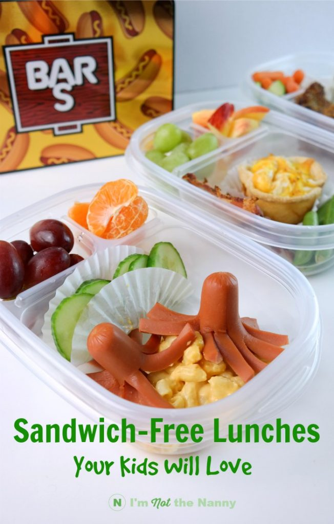 Sandwich-free lunches your kids will love. #BarSServes (AD)