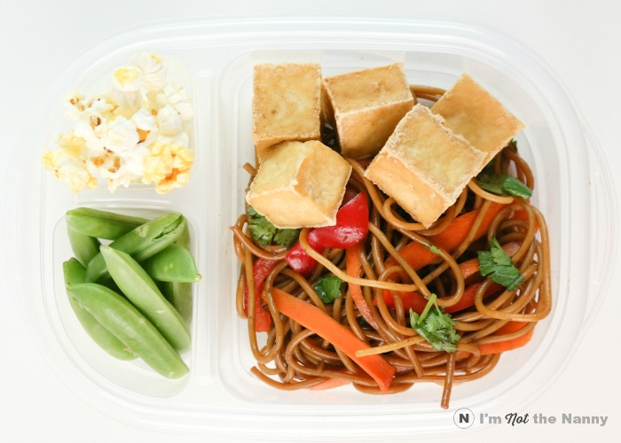 Sesame Noodles with fried tofu Lunch Box