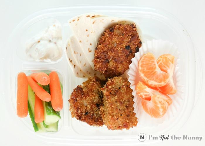 Tuna Quinoa Patties Lunch Box