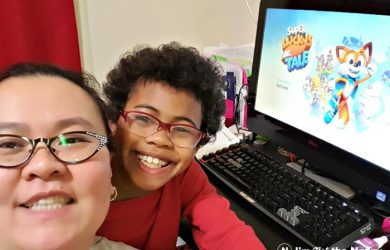 Mother Son Gaming Time