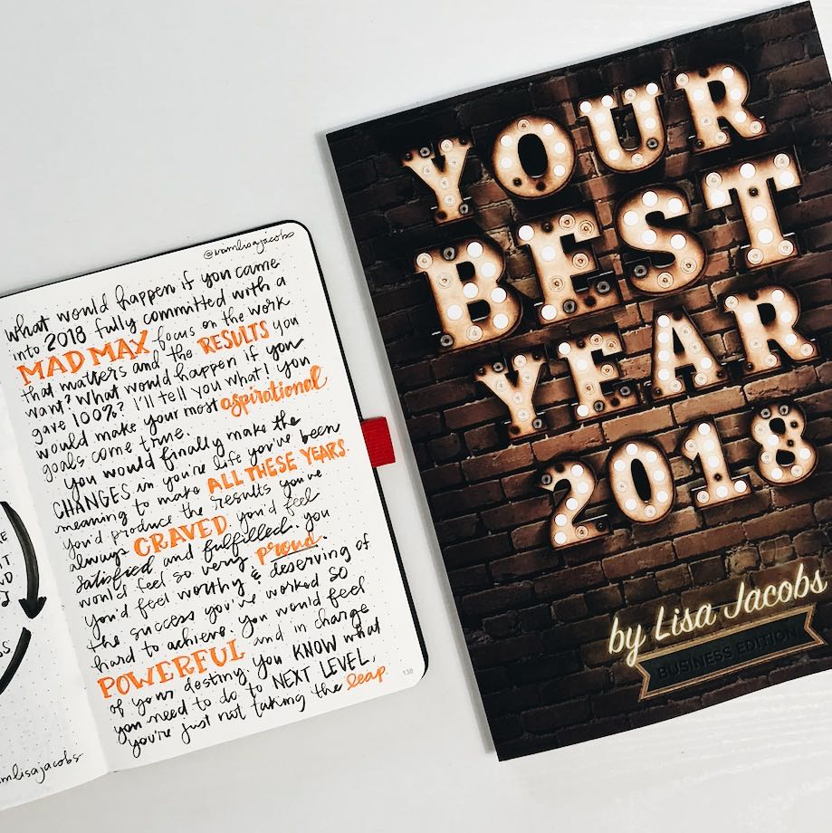 Your Best Year 2018 Workbook by Lisa Jacobs