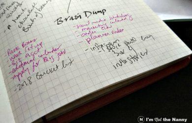 Brain Dump in planner