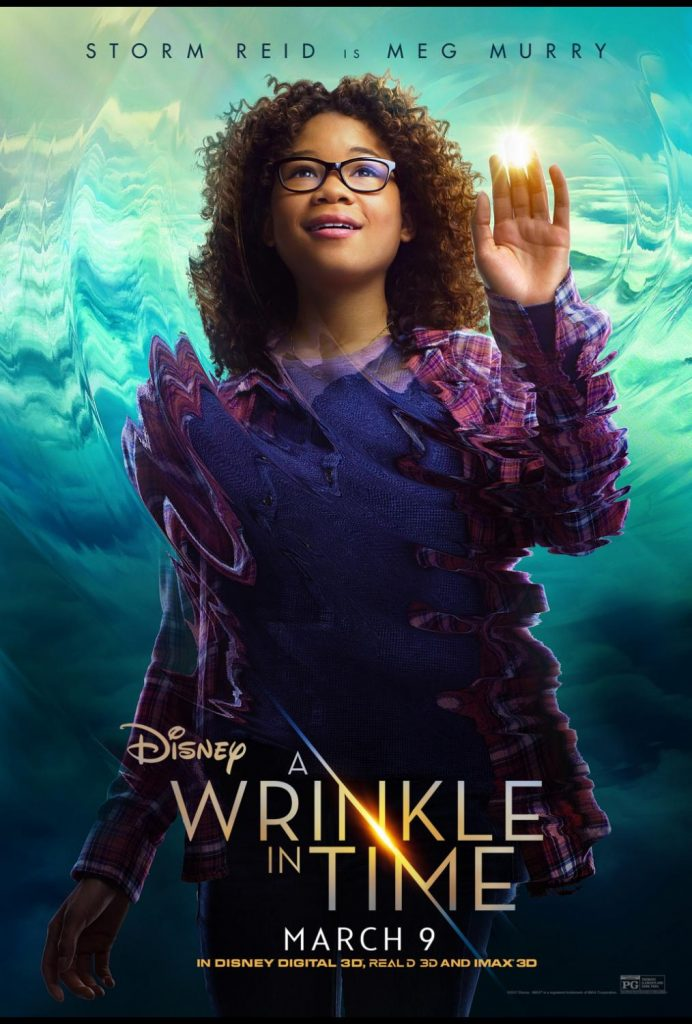 A Wrinkle in Time movie poster with Storm Reid