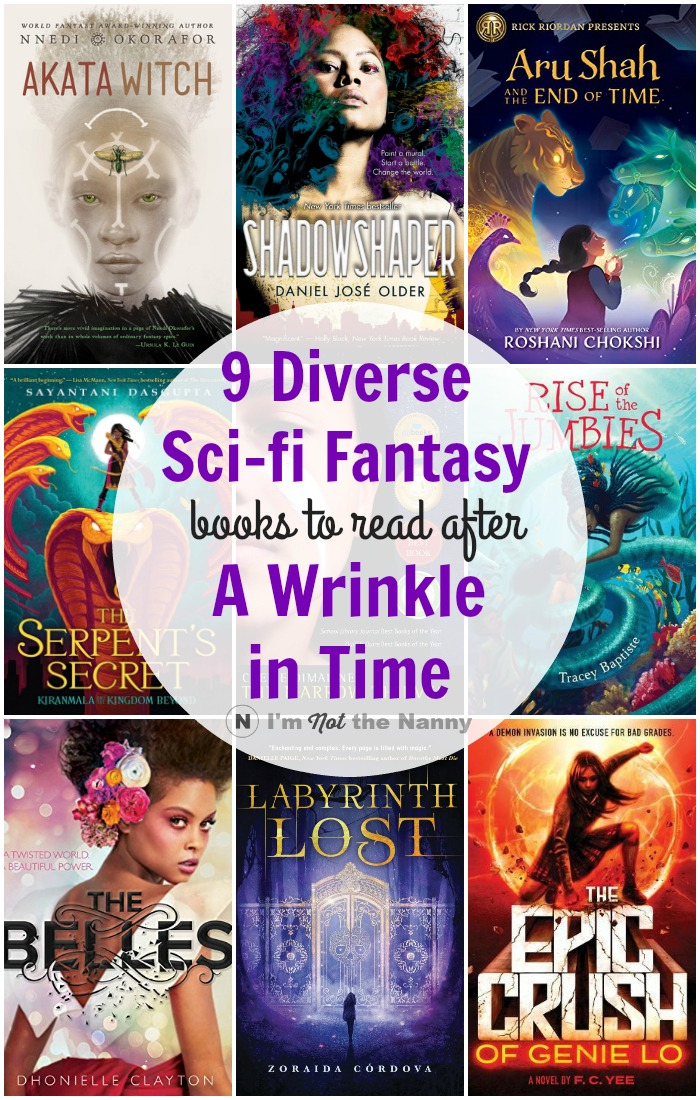 Diverse Sci-Fi Fantasy books to read after A Wrinkle In time