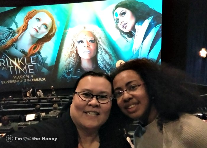 Thien-Kim and daughter at Wrinkle in Time screening