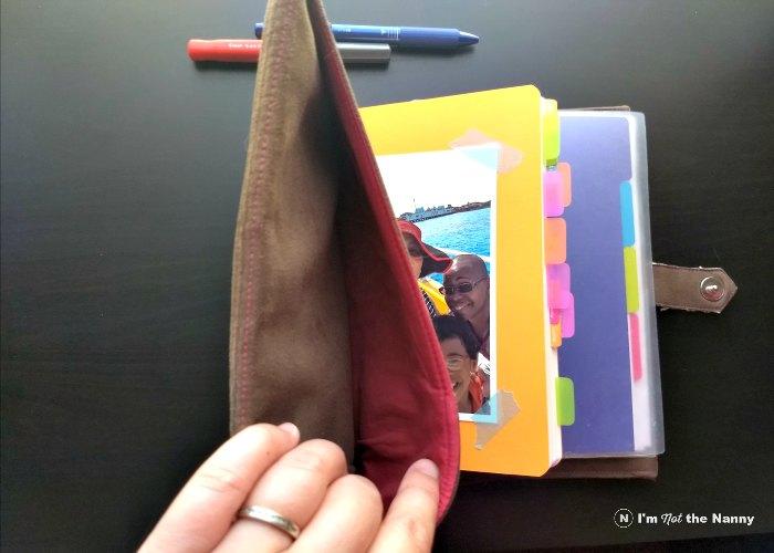 Inside front pocket