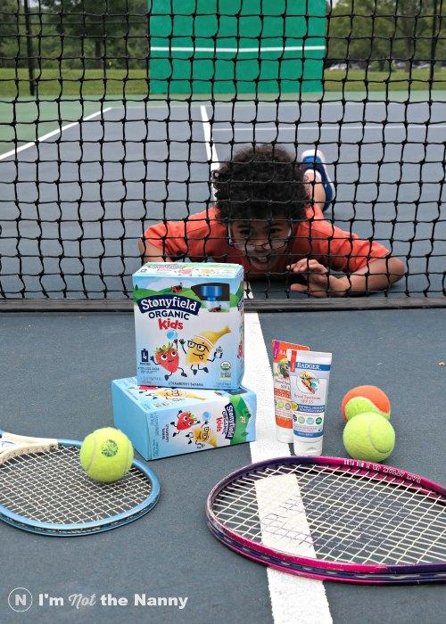 Preparing for tennis