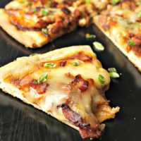 Easy BBQ Chicken & Bacon Pizza