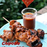 Chipotle Mango BBQ Chicken Skewers