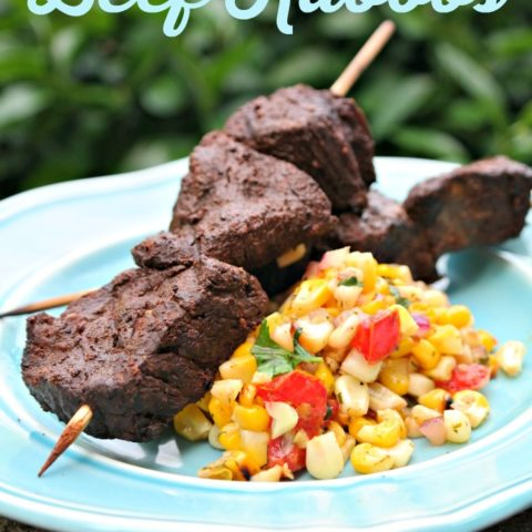 Cocoa & Coffee Rubbed Beef Kabobs