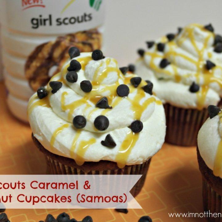 Girl Scouts Coffee-mate Samoa Cupcakes