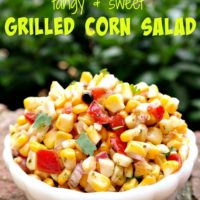 Tangy & Sweet Grilled Corn Salad Recipe