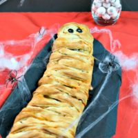 Not So Spooky Mummy Calzone