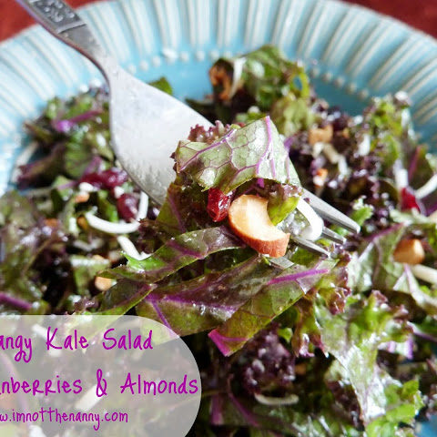 Tangy Kale Salad with Cranberries and Almonds (Recipe)