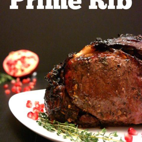 Pomegranate Balsamic Glazed Prime Rib