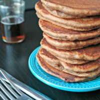 Chocolate Hazelnut Pancakes (Whole Wheat!)