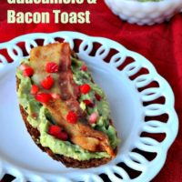 Strawberry Guacamole Bacon Toast