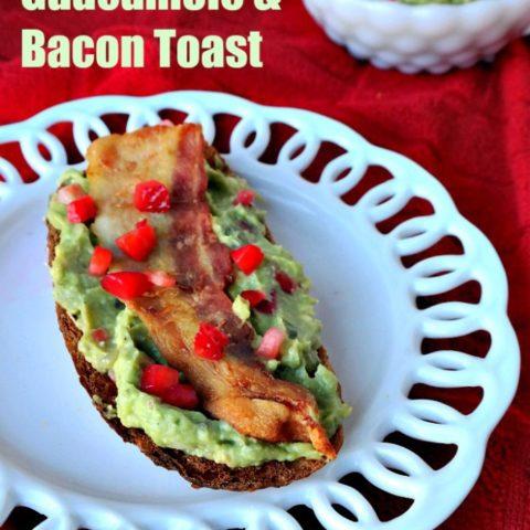Strawberry Guacamole Bacon Toast