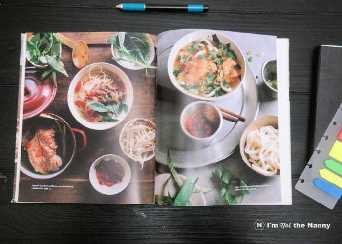 Inside look of Vietnamese Market Cookbook