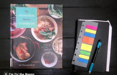 Vietnamese Market Cookbook with notebook