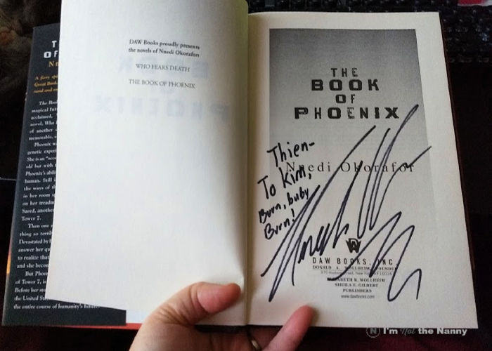 Autographed Book of the Phoenix