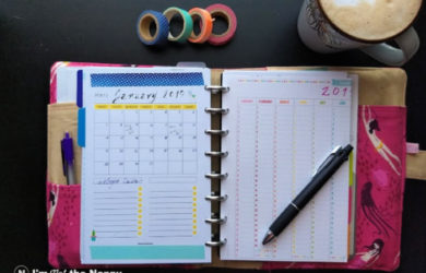 Discbound planner with printable pages
