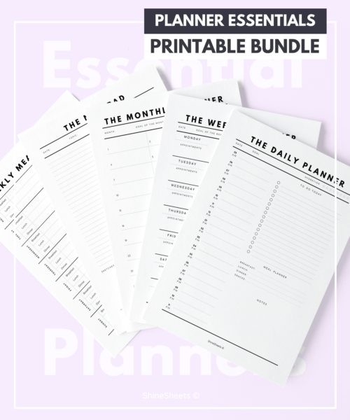 Shine Sheets Planner Bundle