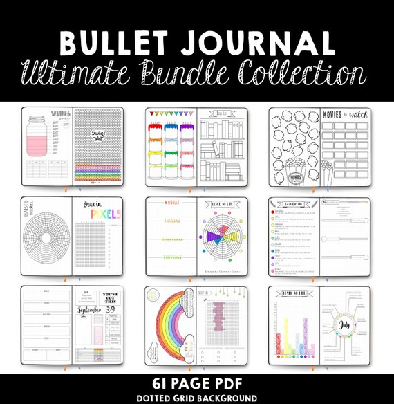 Ultimate Bullet Journal Collection- Scattered Printables