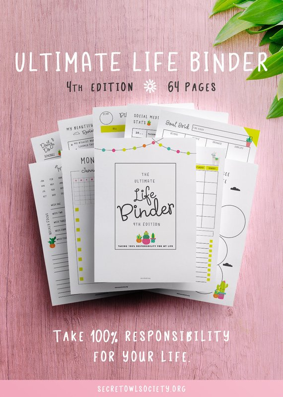 Ultimate Life Binder printable-Secret Owl Society