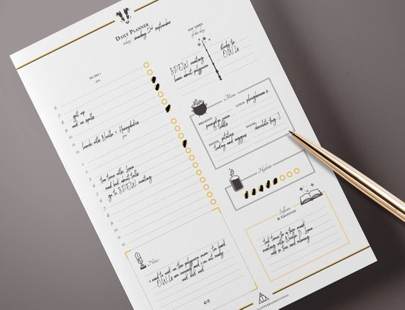 Wizard Daily Printable Planner