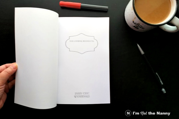 Inside front page of notebook