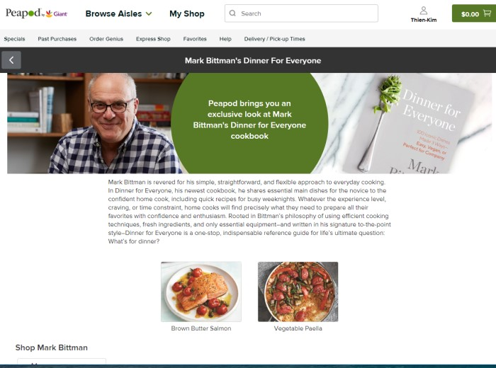 Mark Bittman and Peapod