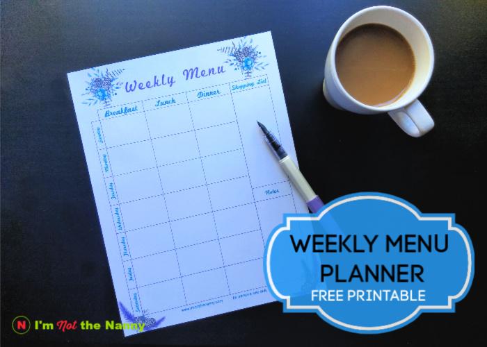 Menu Planner WinterTheme
