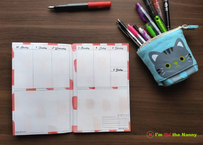 October 2019 Planner Weekly spread