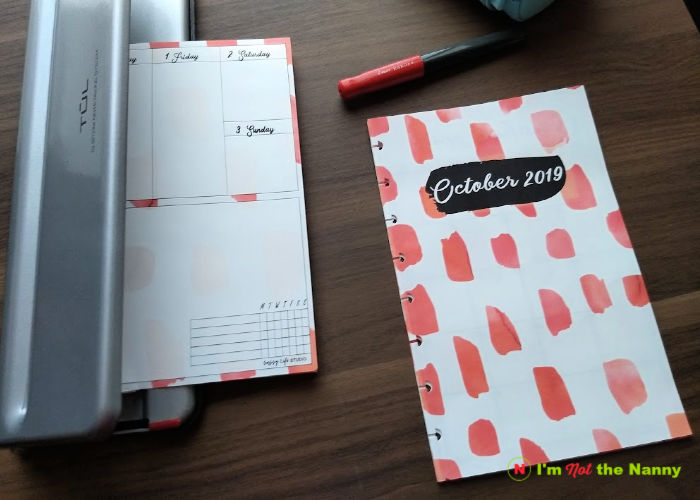 Punching planner for disc notebook