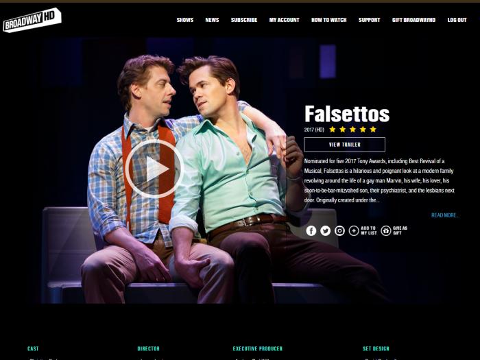 Falsettos on BroadwayHD