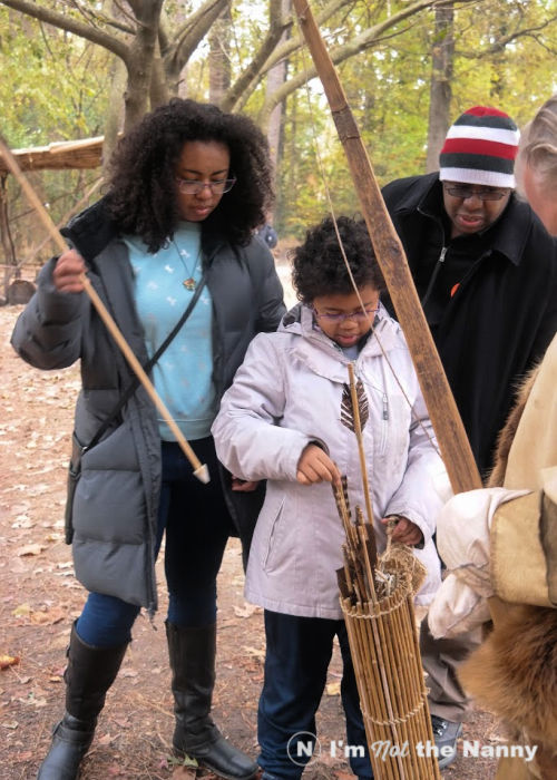 Learning about Powhatan bow and arrows